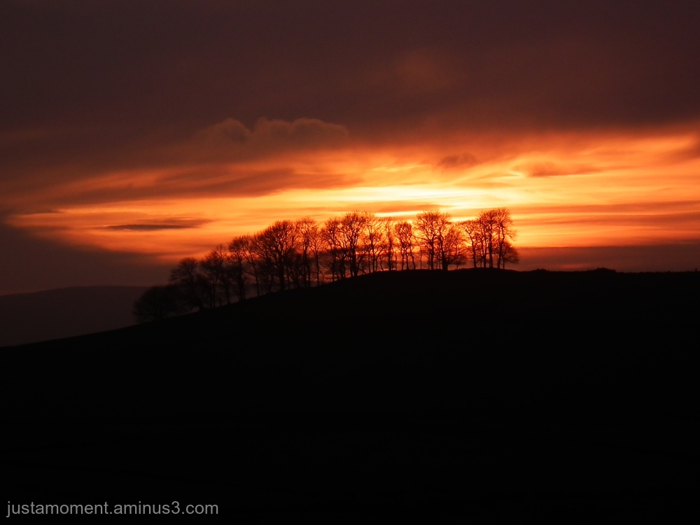 Sunset over Hartington.