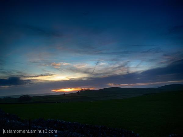 Derbyshire sunset.