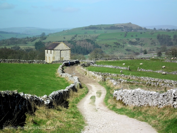 Walking towards Hartington.