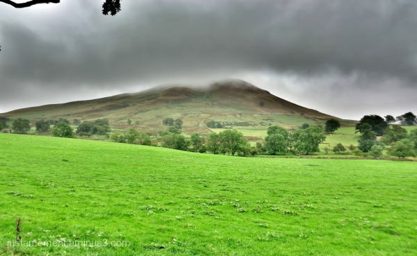 Low cloud over Dufton Pike.