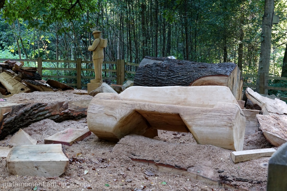 Chainsaw carving.