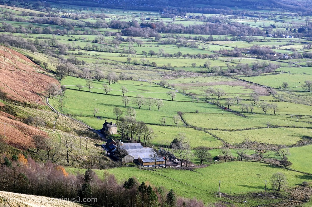 The Hope Valley viewed from Mam Tor.
