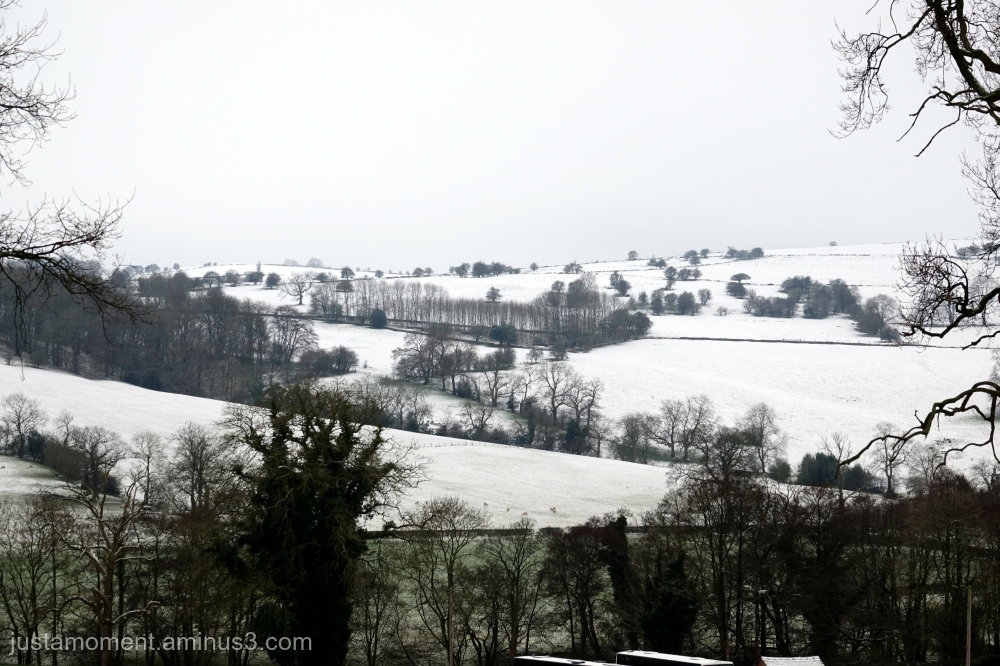 Snow in the Derbyshire Dales.