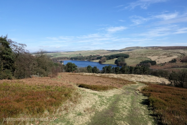 Looking back towards Errwood reservoir.