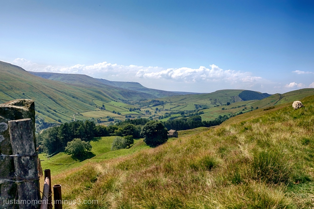 Looking down the Snake Pass.