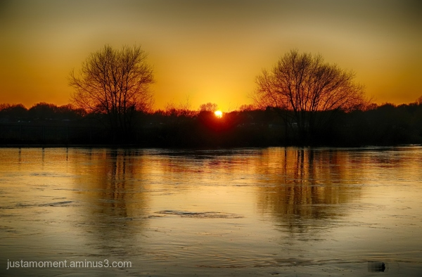 Sunset on the River Trent.