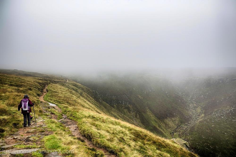 Walking in cloud.