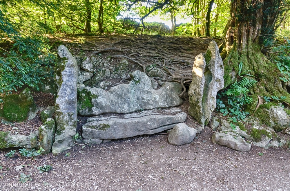 Stone seat.