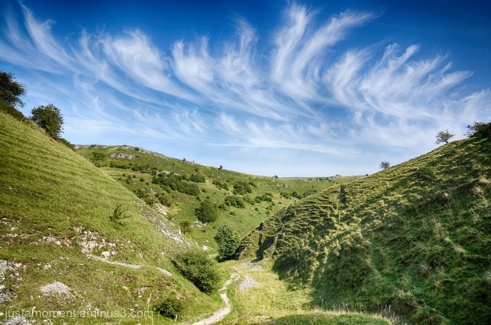 Looking down Tansley Dale.