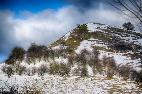 Snowy Derbyshire.