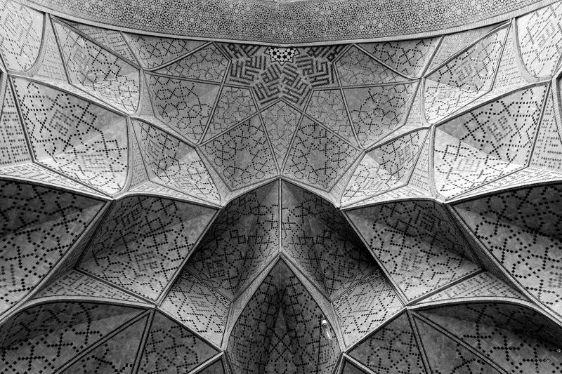 Jameh Mosque of Isfahan B&W IWAN Iranian Architect