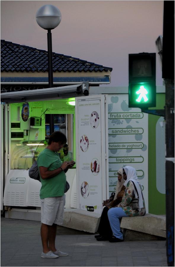 Vie dans l'uni vert