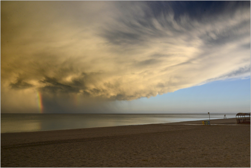 Storm on the beach