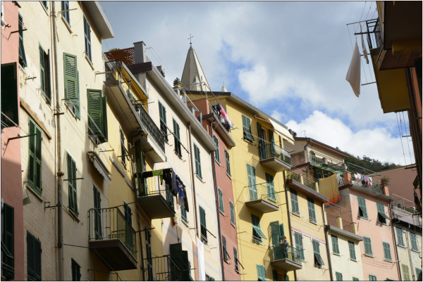 Riomaggiore; montée colorée