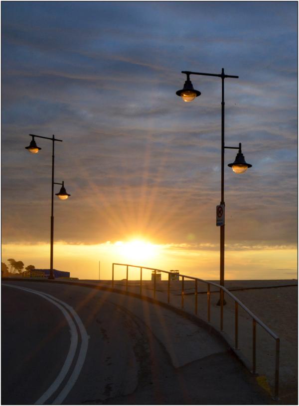 Lumière sur la route