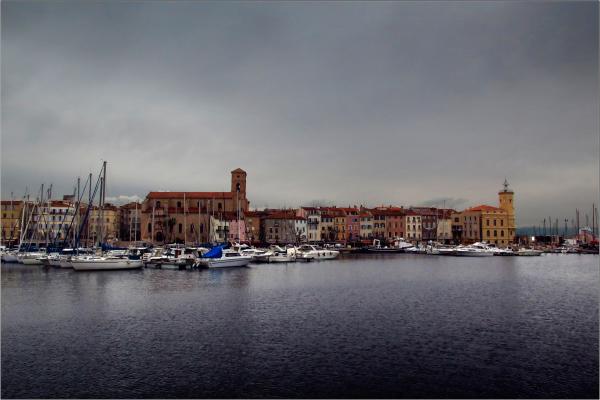 Un port en hiver