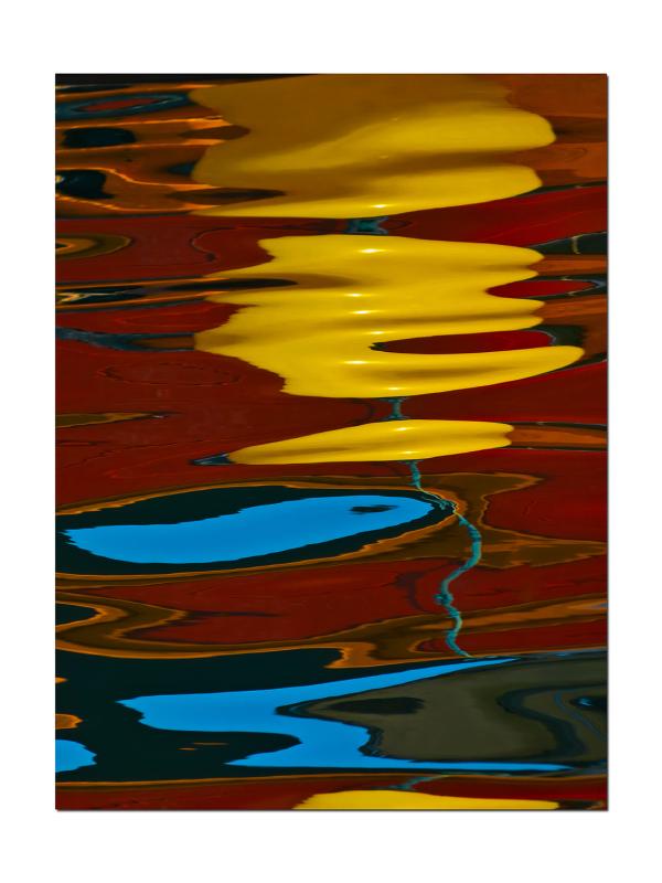 Reflet dans le port de Carry le Rouet.