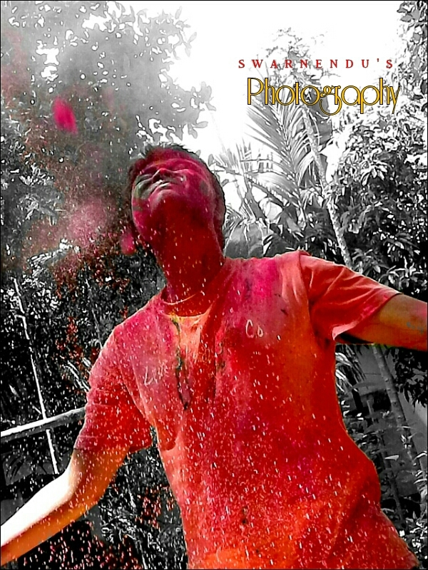 Holi the colour of happyness.