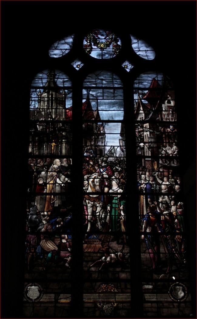 les vitraux de la cathedrale notre dame au havre