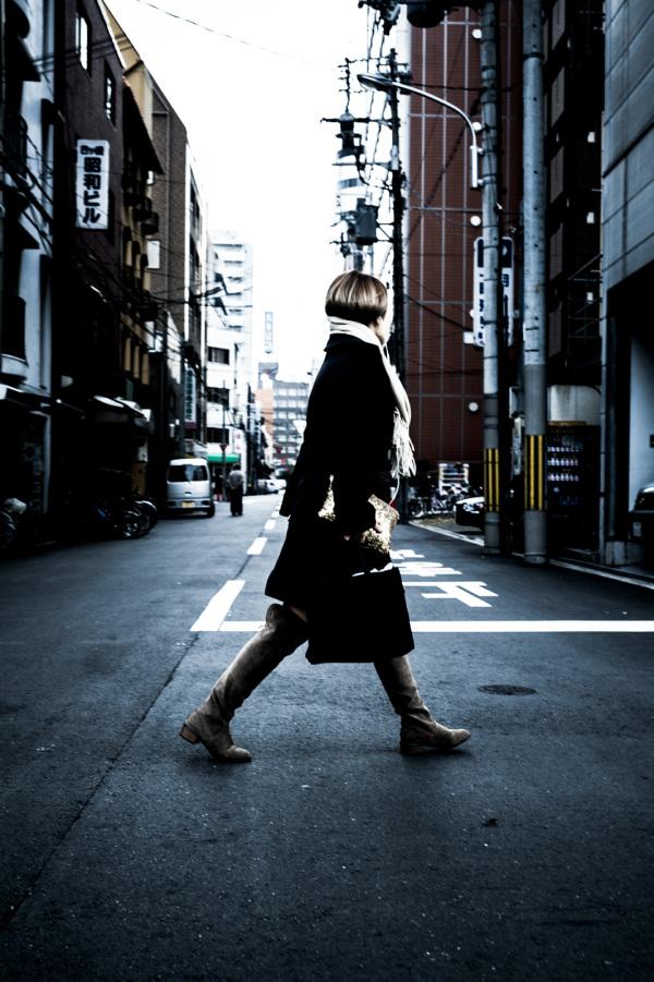 crossing road