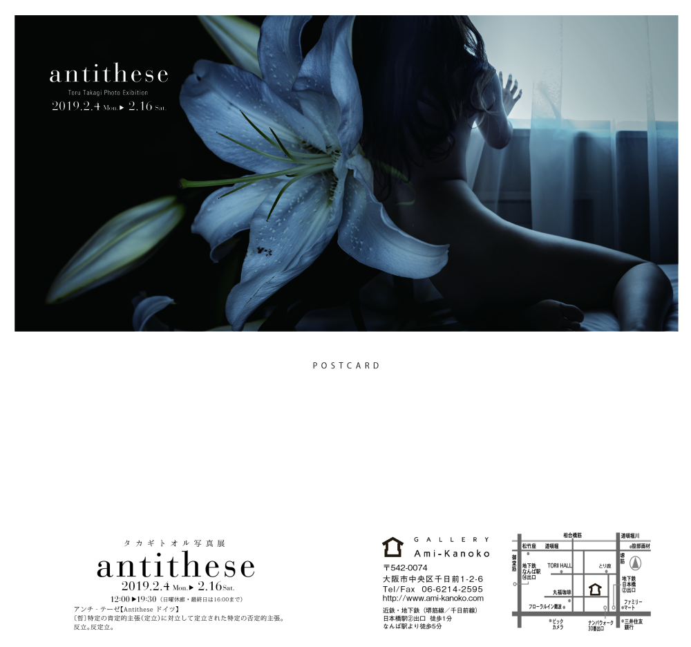 "solo exhibition ""antithese"""