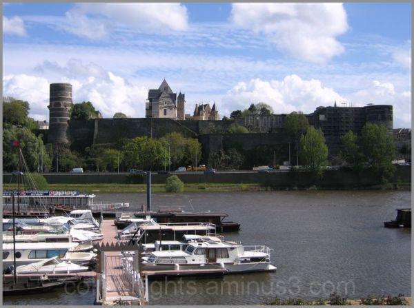 Vue sur les remparts du château d'Angers