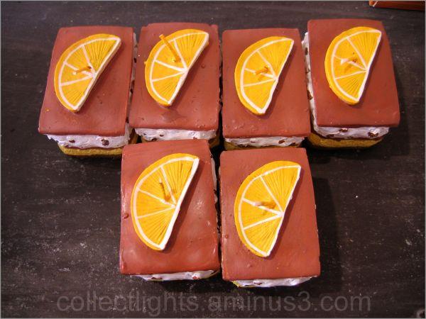 Fondants de cire à l'orange
