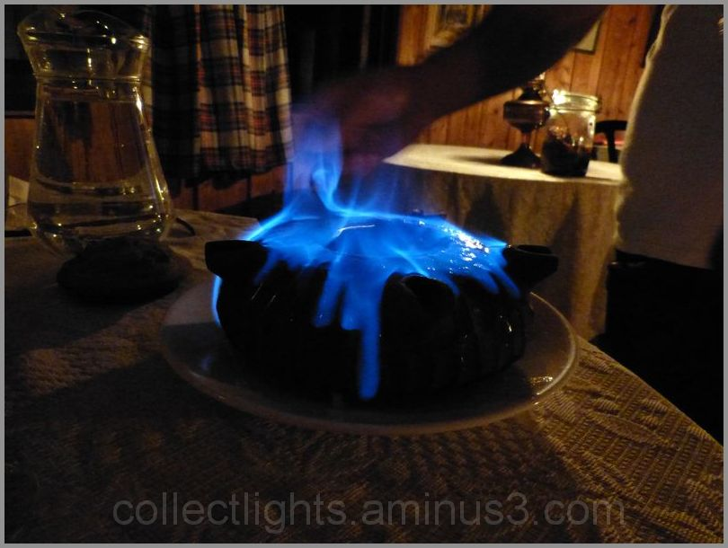 Café flambé dans la grolle