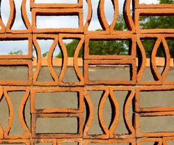 Claustra en dentelle de briques 2/...