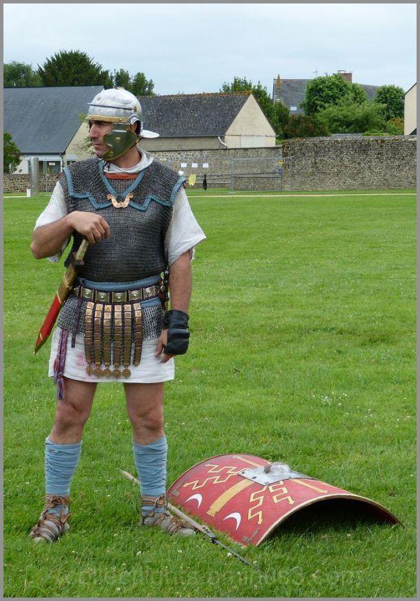 J'ai croisé un soldat romain au champ !