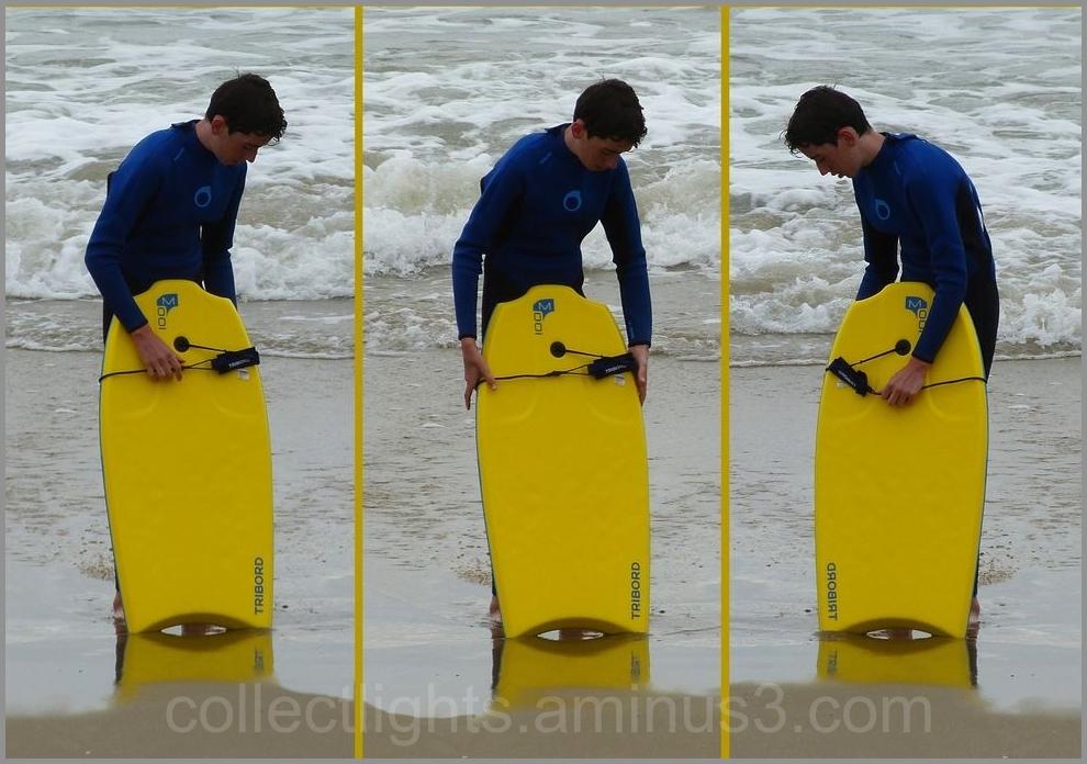 Clin d'oeil et équilibre entre eau et sable !