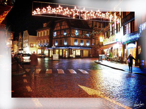 Obernai (Alsace) un soir avant Noël