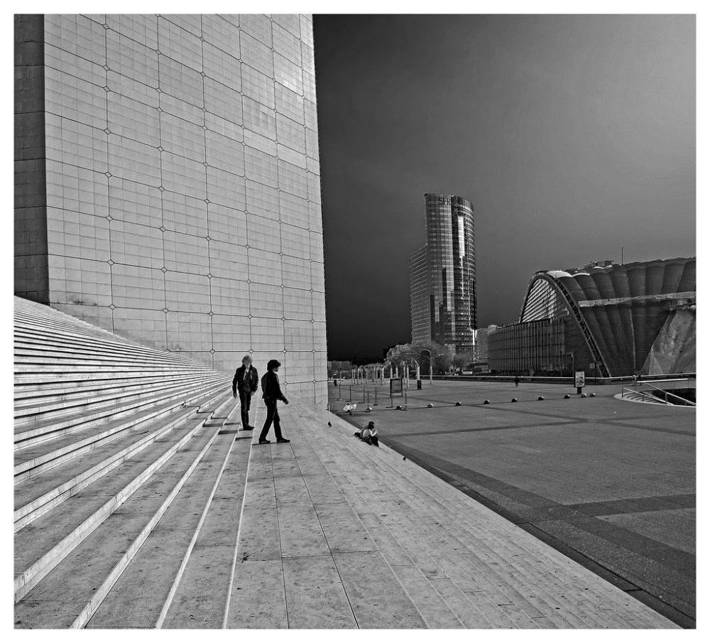 La Défense Les silhouettes de l'Arche