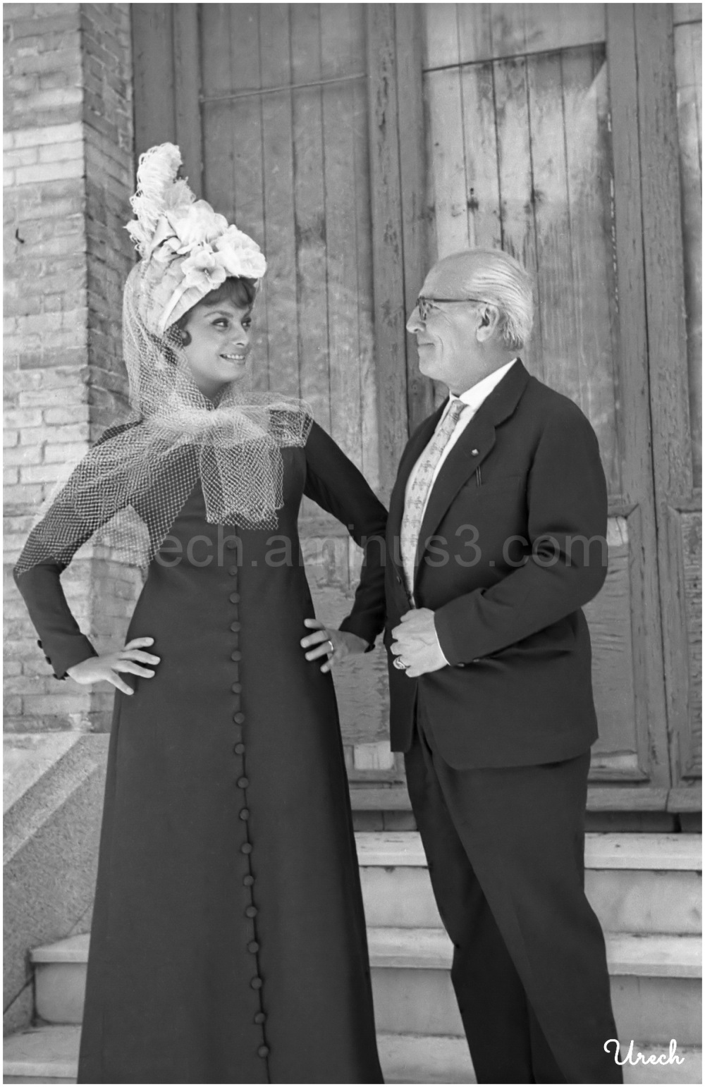 Manuel Urech con Sofía Loren