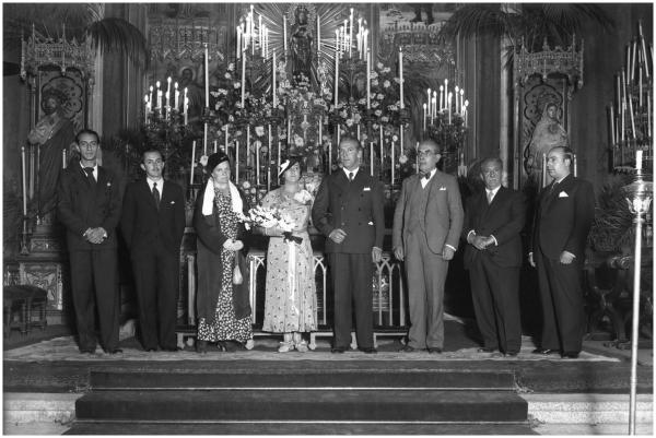 Boda de Cecilia Ribera y Manuel Urech en 1934