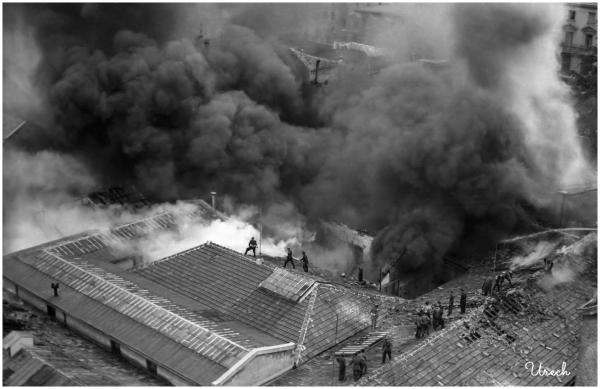 Devastating fire in tire factory