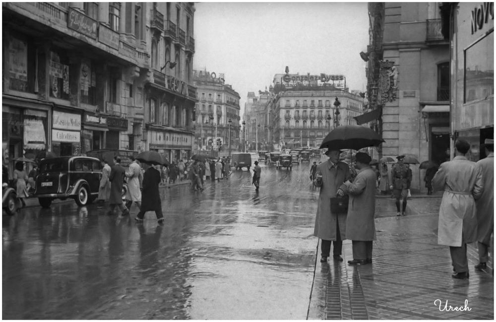 Charla en la calle Mayor, Madrid