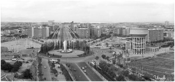Panorámica de la Plaza de Castilla, Madrid
