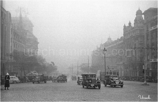 Niebla en la calle de Alcalá
