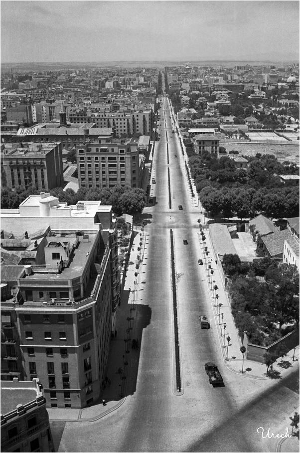 Vista aérea de la calle María de Molina