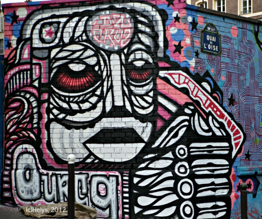 détails fresque portrait à paris