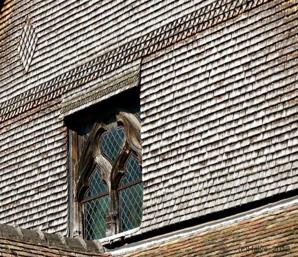 Graphisme, détails en couleurs de murs et fenêtre