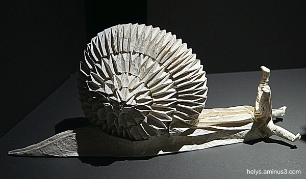 Escargot origami