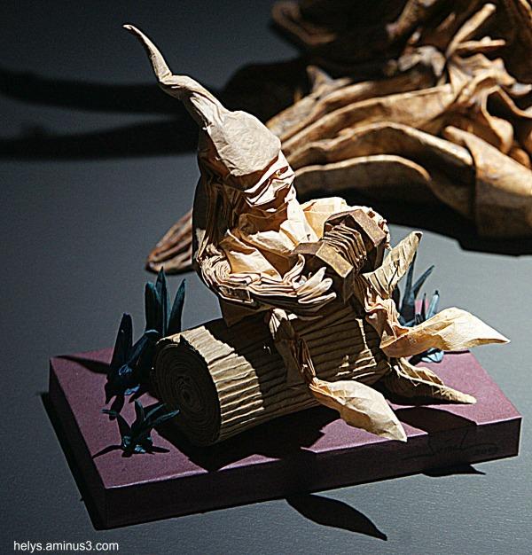 Accordéonniste origami