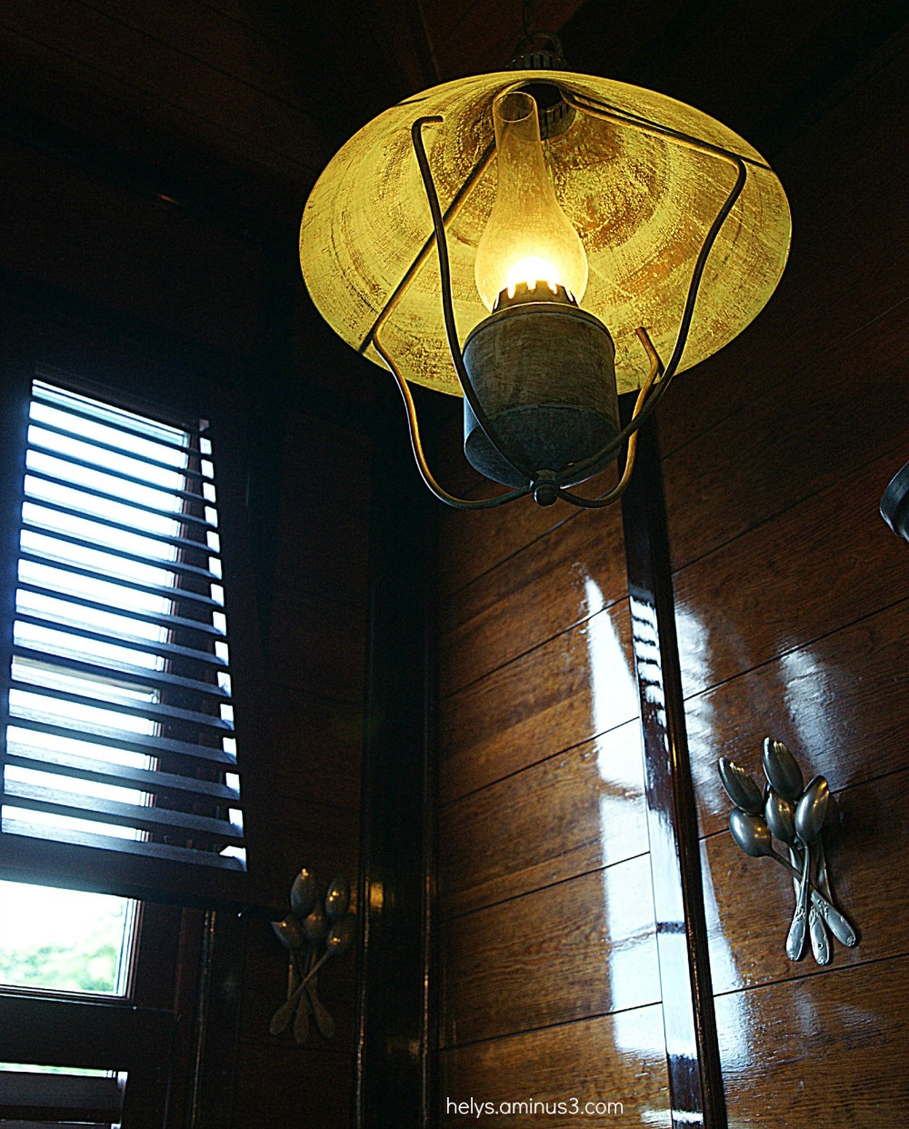 lamp in a safari home