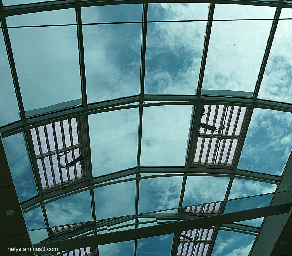 clouds and roof