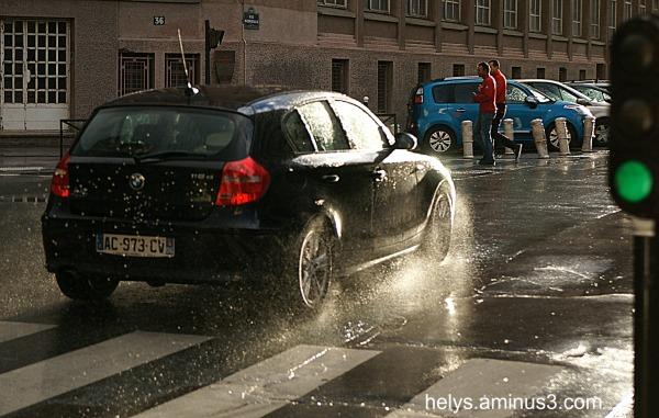 splash in the street