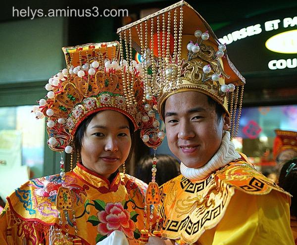 Jeunes mariés mandarins
