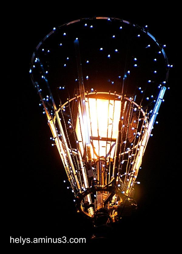 Web in a lamp