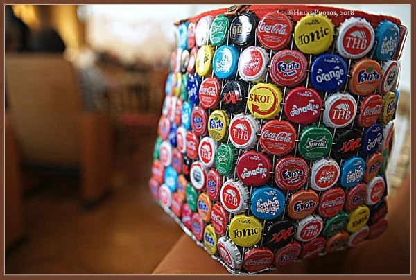 a bag made with bottle capsules